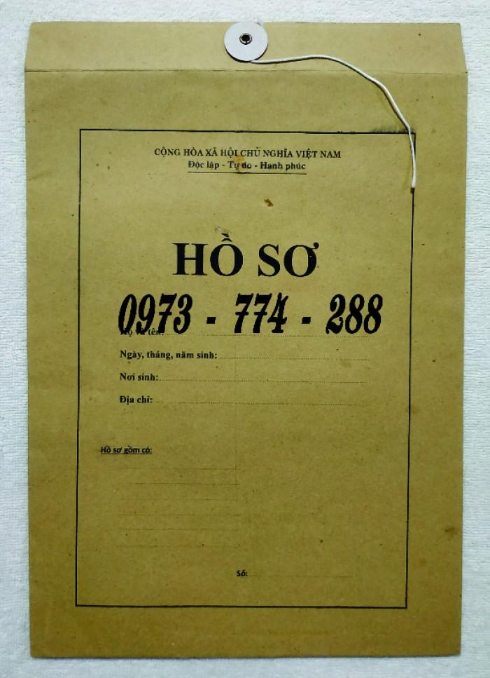 Bì hồ sơ viên chức theo tt0712