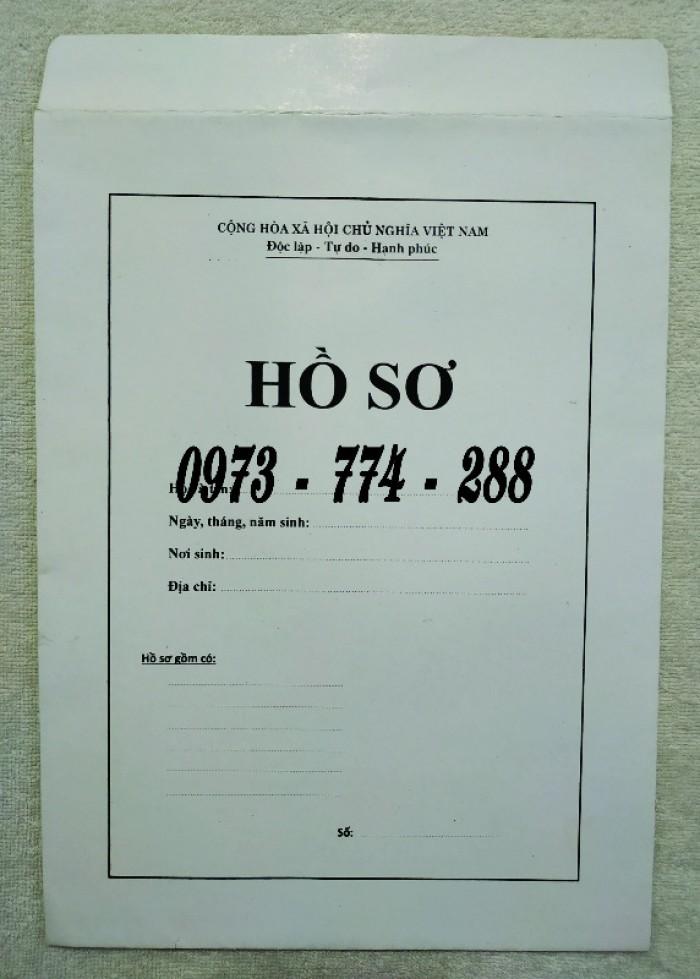 Bì hồ sơ viên chức theo tt0713