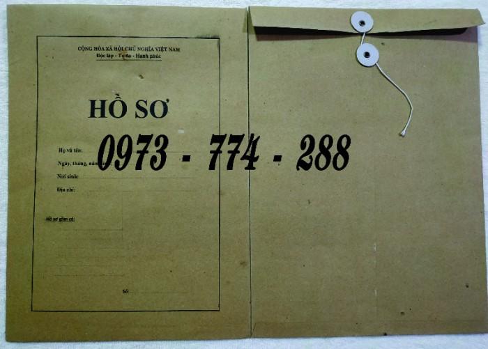 Bì hồ sơ viên chức theo tt0715