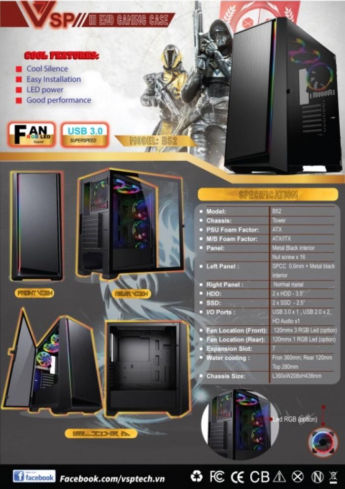 Vỏ thùng Case VSP B52 Gaming chính hãng4