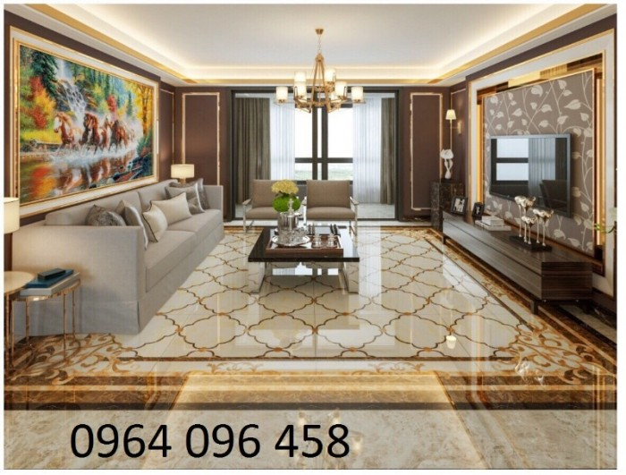 Gạch thảm 3d phòng khách khổ lớn - 45DF4