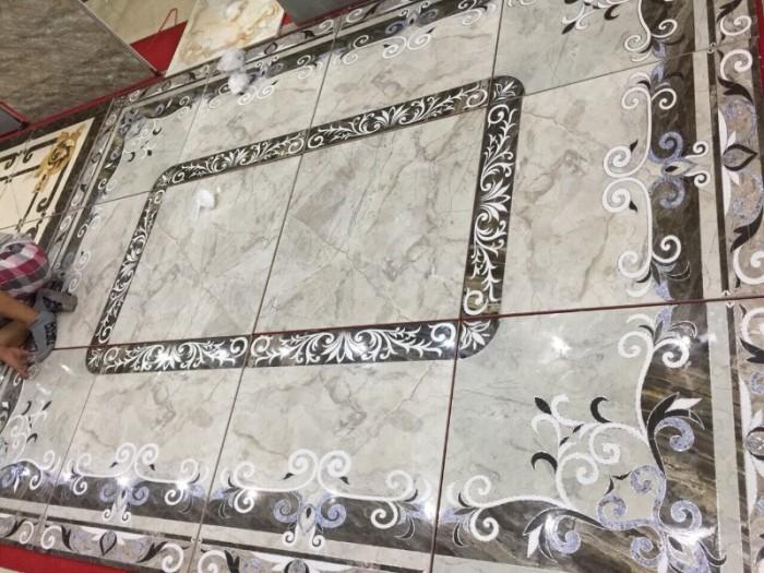 Gạch thảm 3d phòng khách khổ lớn - 45DF3