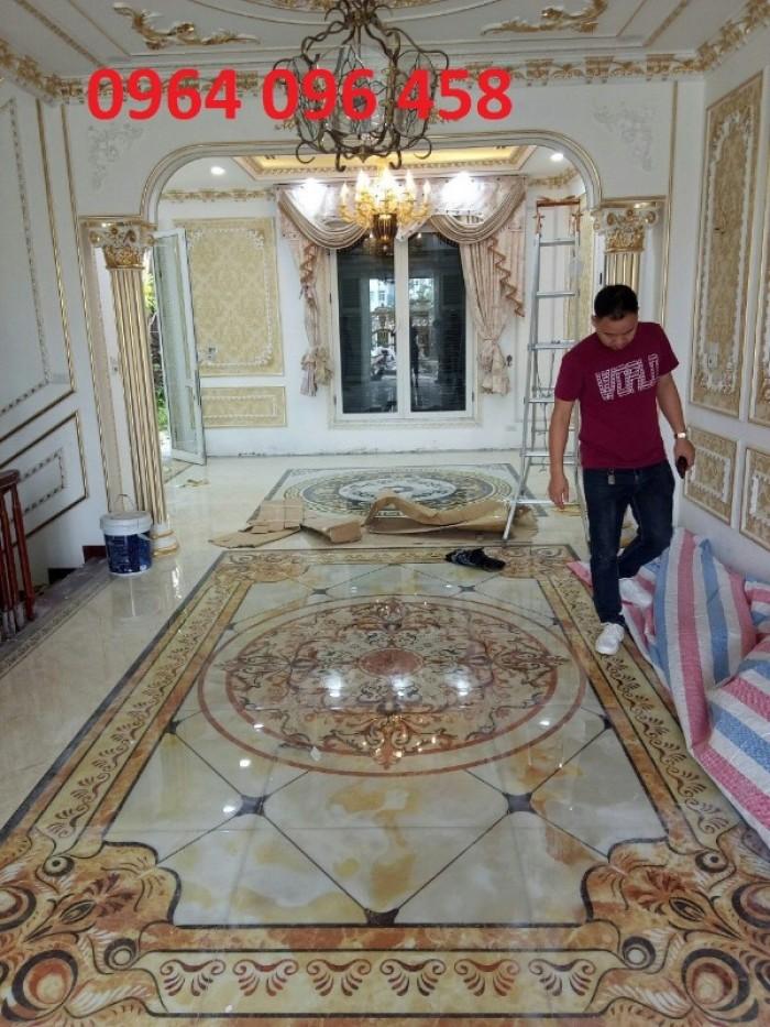Gạch thảm 3d phòng khách khổ lớn - 45DF6