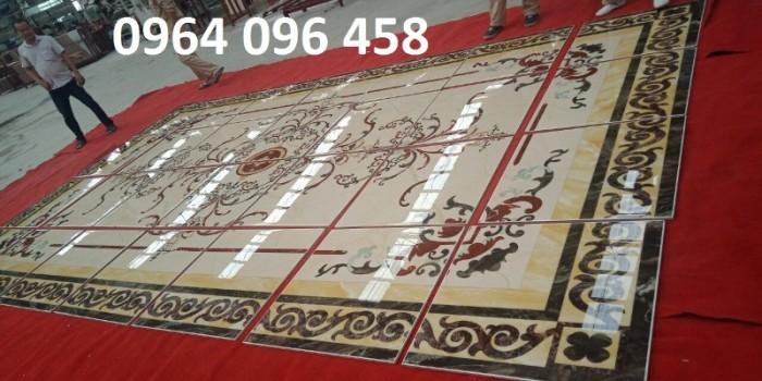 Gạch thảm 3d phòng khách khổ lớn - 45DF1