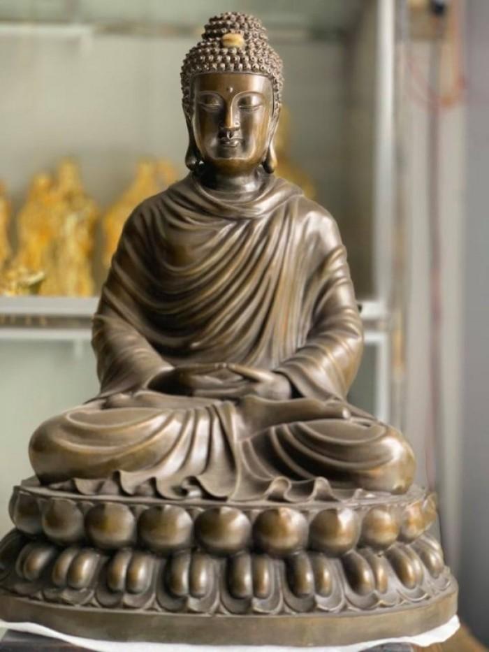 Tượng Phật bổn sư bằng đồng0