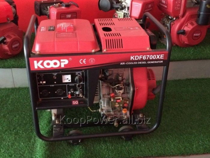 Máy phát điện chạy dầu 5kva KOOP 6700X giật tay giá tốt nhất toàn quốc0