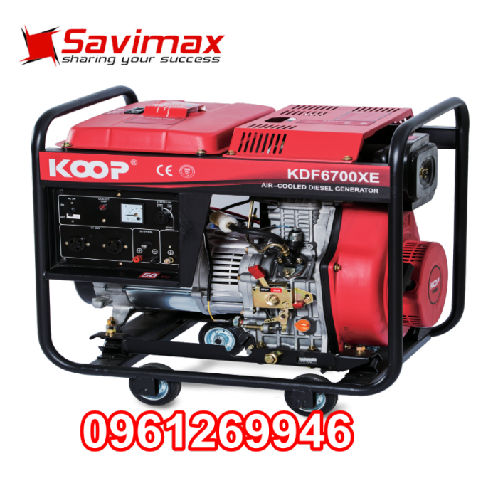 Máy phát điện chạy dầu 5kva KOOP 6700X giật tay giá tốt nhất toàn quốc1