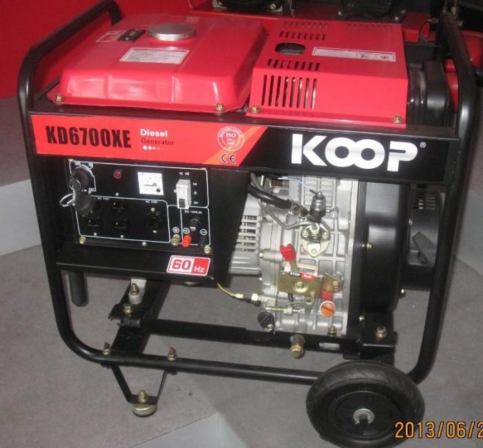 Máy phát điện chạy dầu 5kva KOOP 6700X giật tay giá tốt nhất toàn quốc2