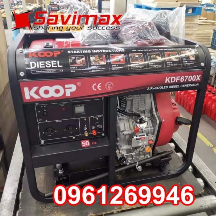 Máy phát điện chạy dầu 5kva KOOP 6700X giật tay giá tốt nhất toàn quốc3