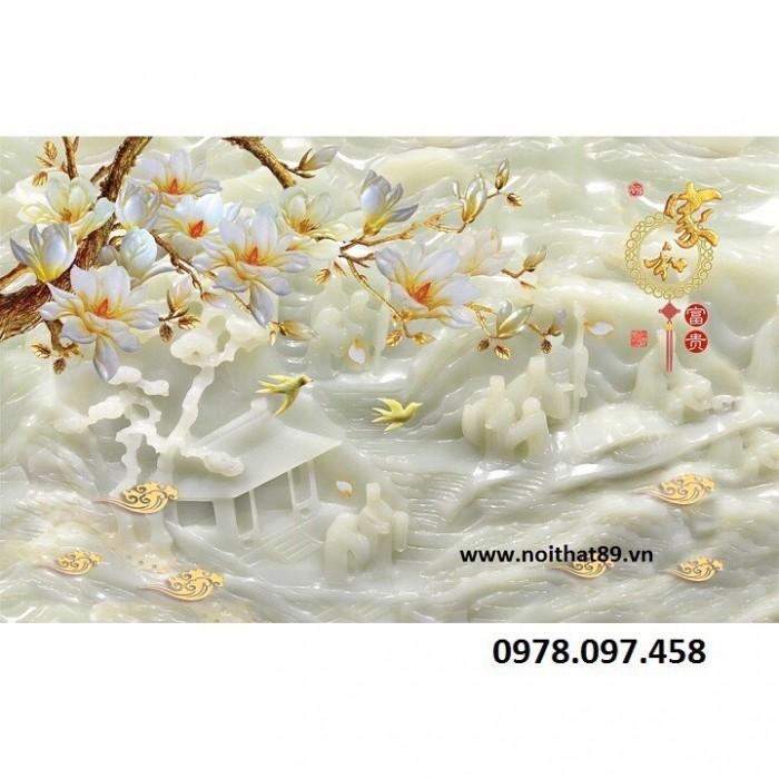 Tranh gạch 3D - tranh hoa2