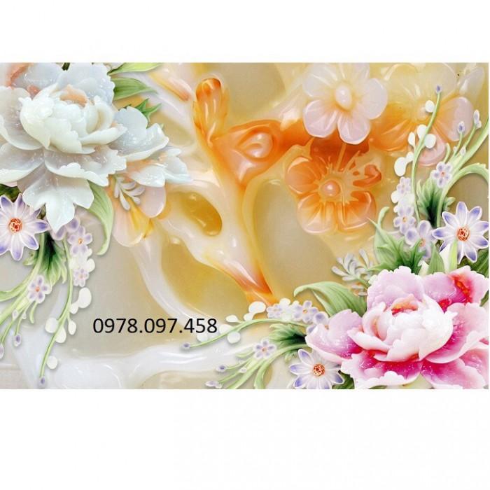 Tranh gạch 3D - tranh hoa3