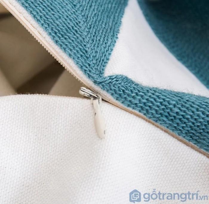 Gối tựa lưng họa tiết vải lanh trang trí sofa GHO-1183