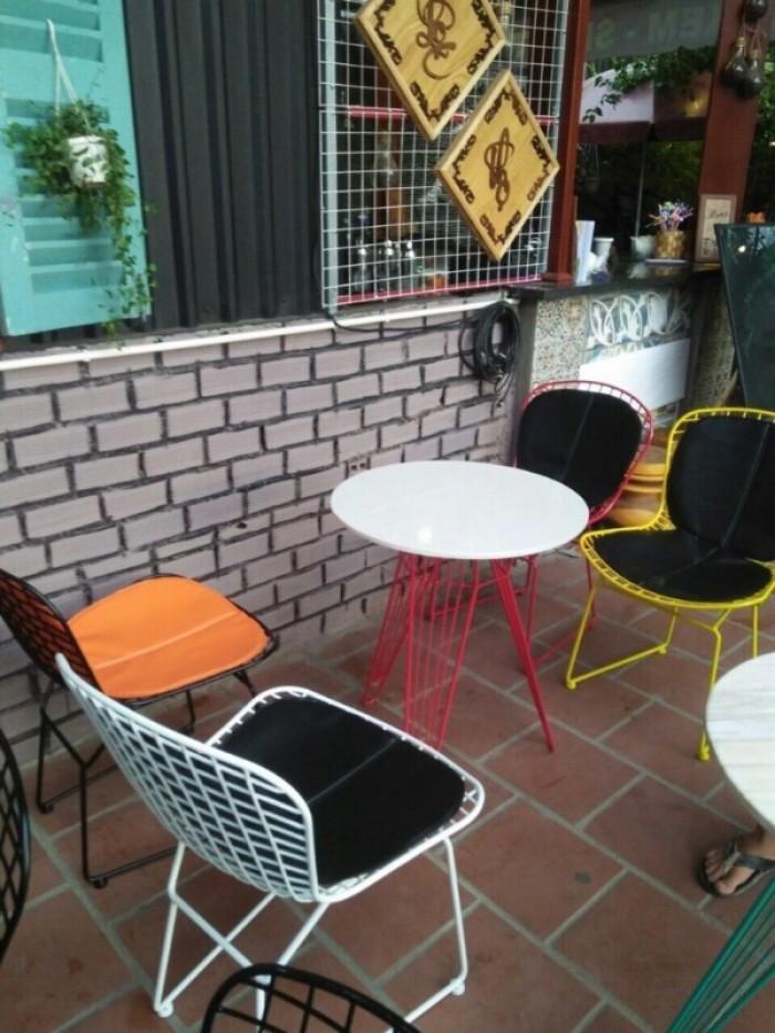Ghế sắt sơn tính điện giá tại xưởng sản xuất (Bàn Ghế cafe đẹp Quang Đại)1