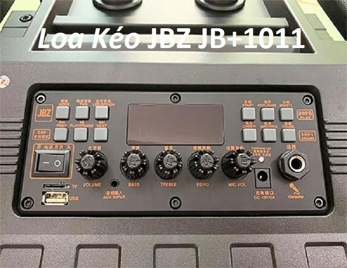 Loa kéo di động JBZ JB+1011 Mặt trên với chất liệu nhựa ABS. bảng điều chỉnh loa được thiết kế ở phía trên, thật tiện lợi cho quý khách khi sử dụng và điều chỉnh thật dễ dàng.0
