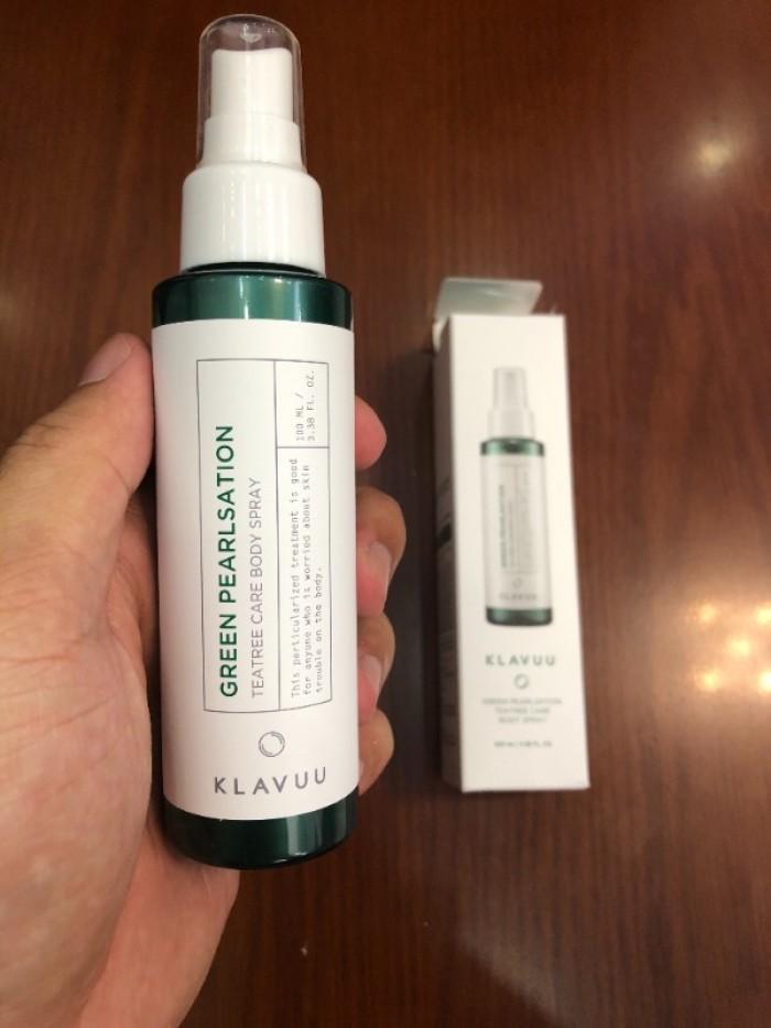 Xịt trị mụn Klavuu Tea Tree Care Body Spray xách tay Hàn Quốc2