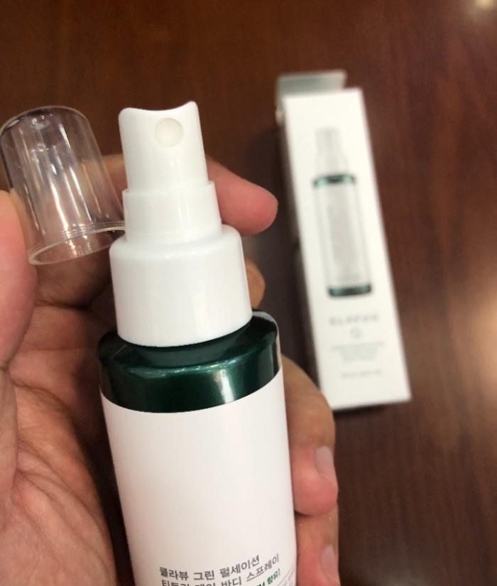 Xịt trị mụn Klavuu Tea Tree Care Body Spray xách tay Hàn Quốc0