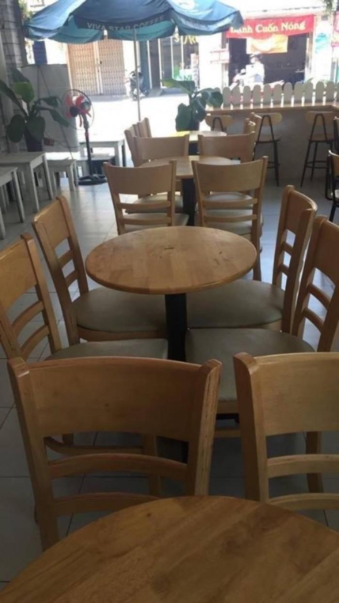 Thanh lý bộ bàn ghế gỗ cabin cafe giá rẻ