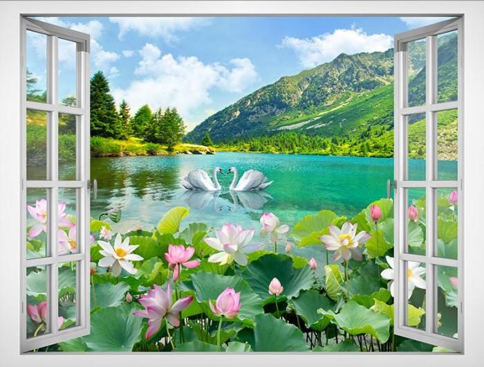 Gạch tranh ốp tường 3d - phong cảnh thiên nhiên0