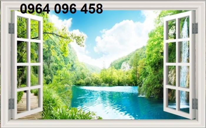 Gạch tranh ốp tường 3d - phong cảnh thiên nhiên2