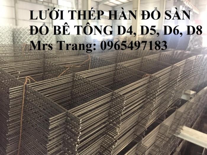 Lưới thép hàn D4, D5, D6, D8 đổ sàn bê tông, đổ mái giá tốt nhất tại Hà Nội0