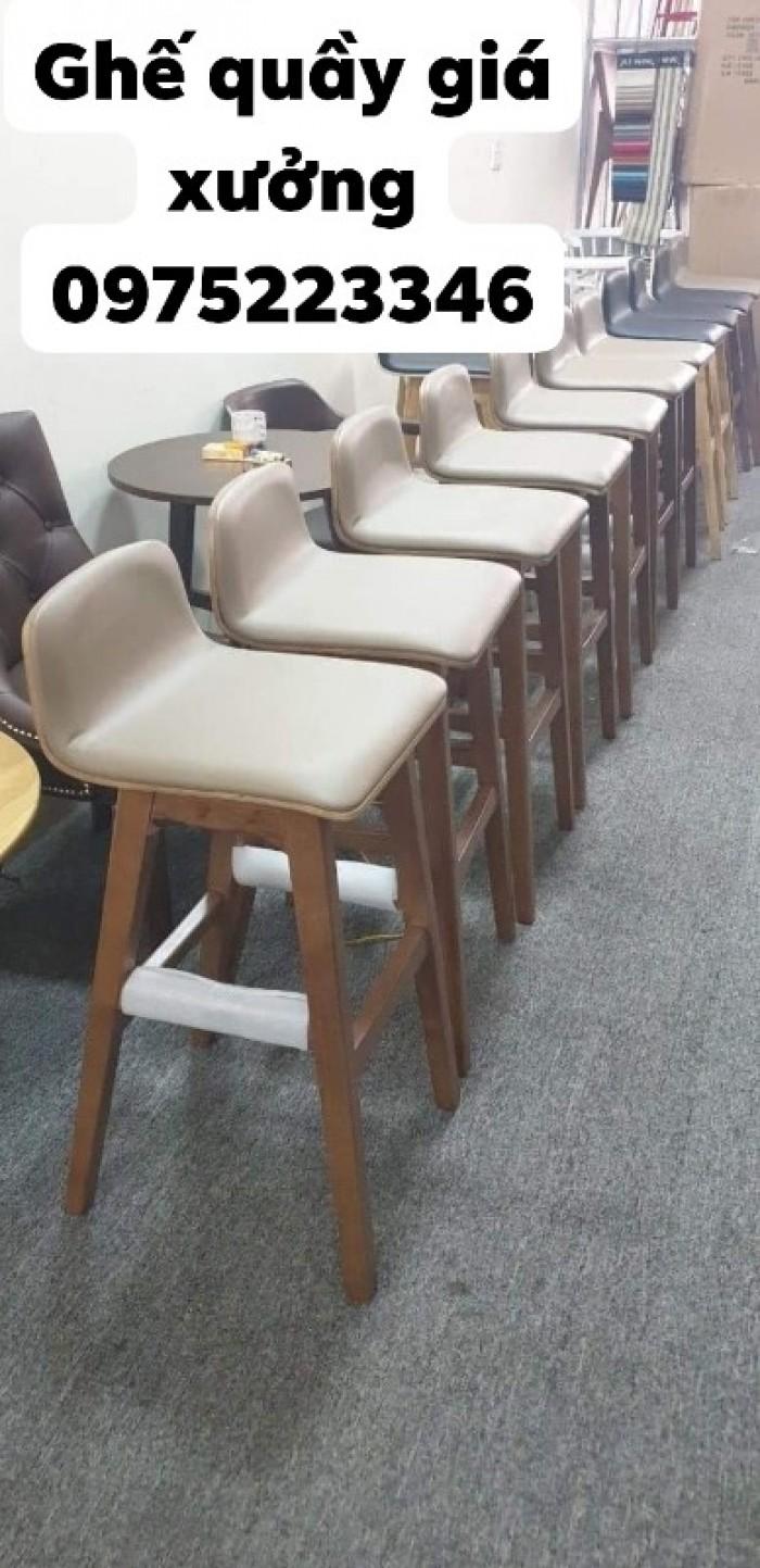 Ghế quầy gỗ đẹp giá tại xưởng Nội Thất Quang Đại3