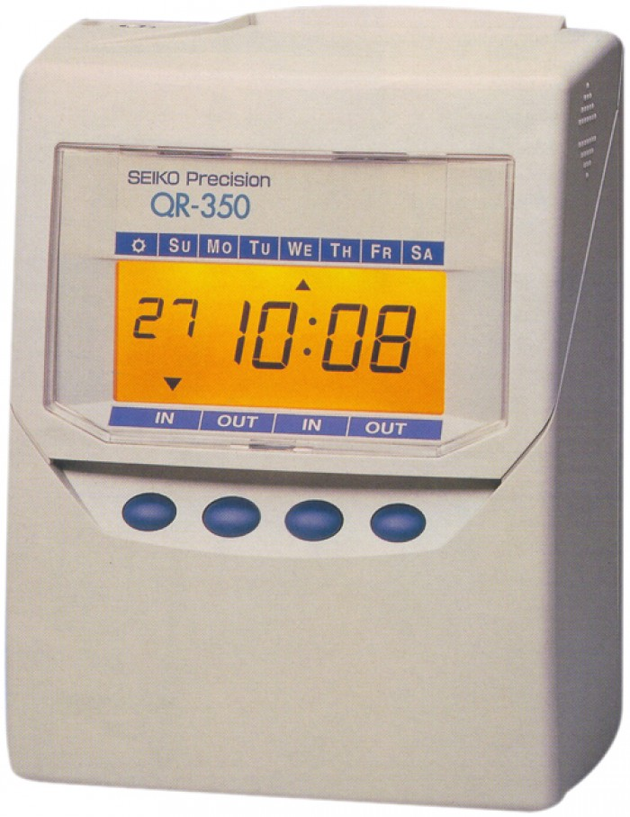 Máy chấm công thẻ giấy Seiko QR 395 - Bán giá rẻ  nhất1