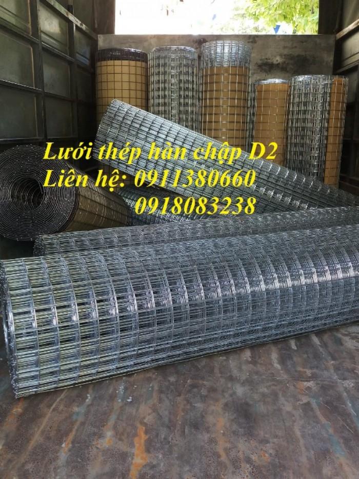 Lưới thép hàn D2 ô25x25, ô50x50 mạ kẽm2