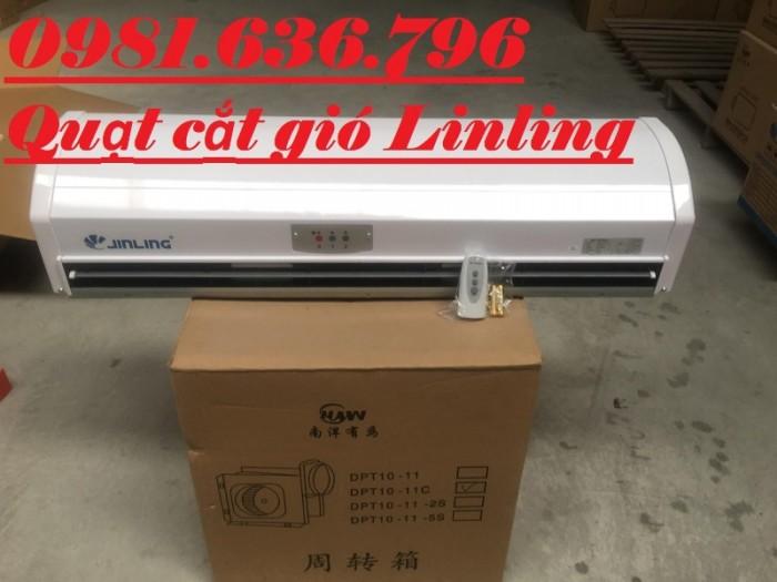 Quạt cắt gió Jinling 0.9M chạy không tiếng ồn.