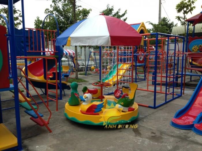 Mâm xoay vận động cho trường mầm non, công viên, khu vui chơi, TTTM6