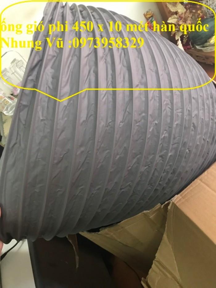ống gió mềm vải Tarpaulin Phi 450 ( co giãn đàn hồi )10