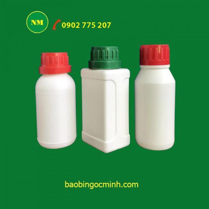 Chai nhựa, chai nhựa HDPE, chai nhựa 100ml, chai nhựa 250ml đựng hóa chất0