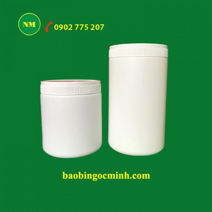 Hủ nhựa 500gr - Hủ nhựa 1kg đựng chất vi sinh, hủ nhựa đựng phân bón0