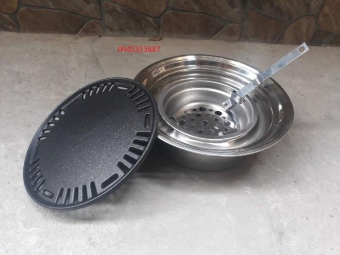 Bếp nướng than hoa âm bàn hút trên - Vỉ gang chống dính Hàn Quốc0