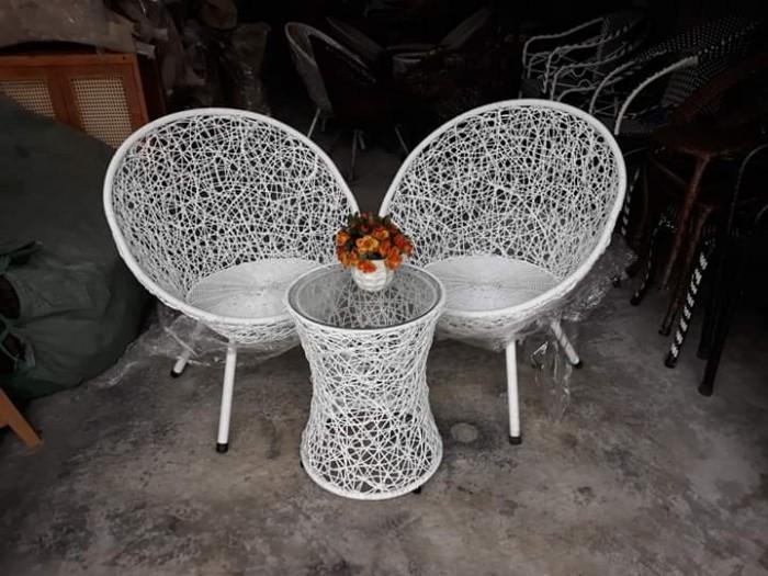 Sản xuất và cung cấp bàn ghế cafe nhựa giả mây dùng cho cafe, nhà hàng..2