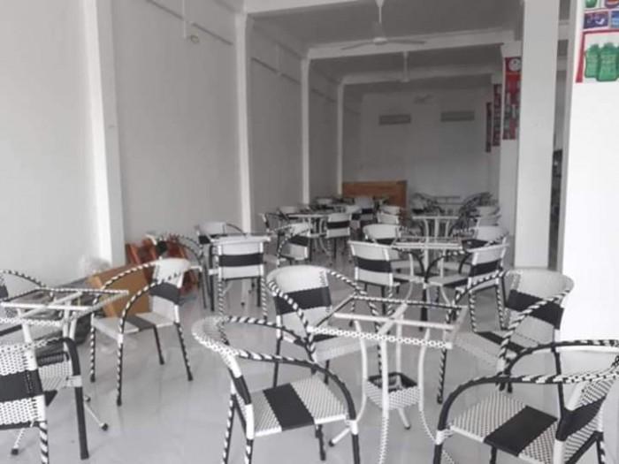 Bộ bàn ghế cafe nhựa giả mây HNT-083..3