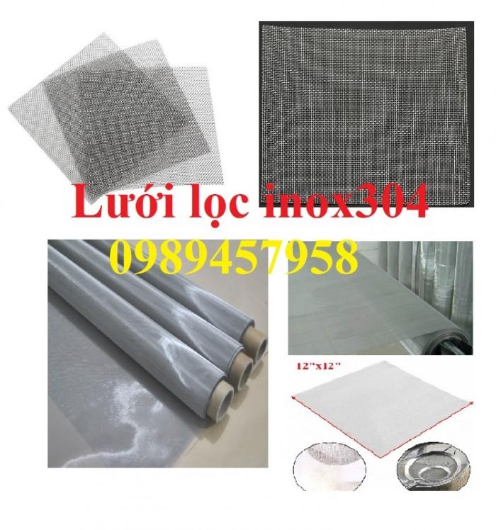 Lưới lọc khoáng sản, lưới lọc dầu, lưới dệt inox 304, lưới đan 1ly, 2ly0