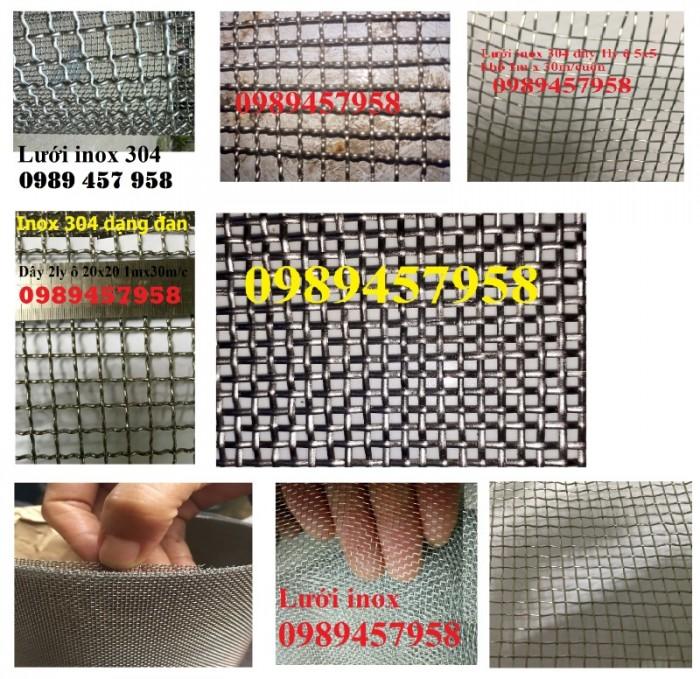 Lưới lọc khoáng sản, lưới lọc dầu, lưới dệt inox 304, lưới đan 1ly, 2ly1