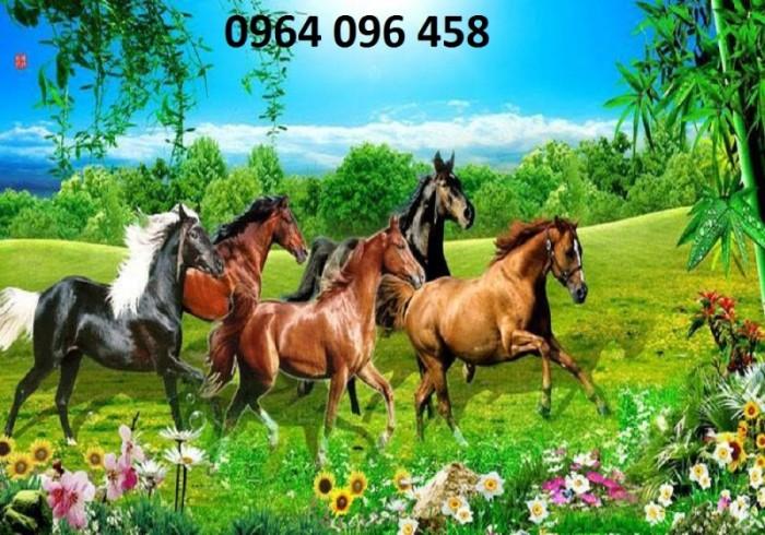 Tranh 3d con ngựa phòng khách10