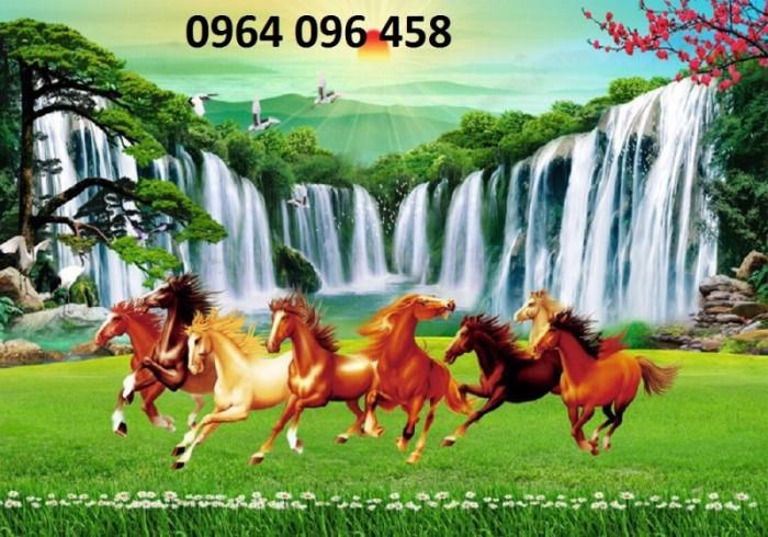 Tranh 3d con ngựa phòng khách9
