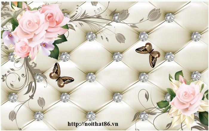 Tranh gạch 3d hoa ngọc - 56EY0