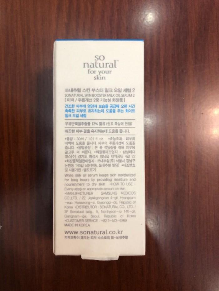 Tinh chất dưỡng trắng da Skin Booster Milk Oil Serum xách tay Hàn Quốc2
