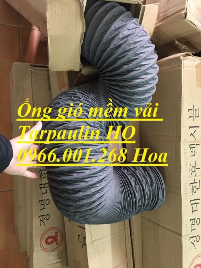 Ống gió mềm vải Tarpaulin phi 100,phi 150,phi 200,phi 250,phi 300,phi 3500