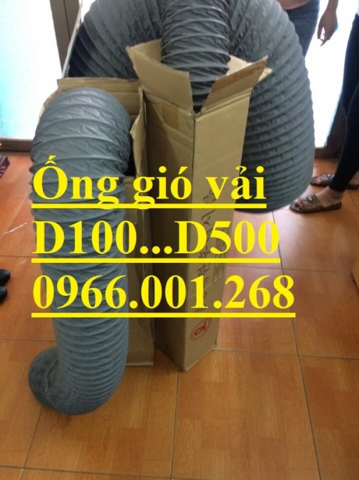 Ống gió mềm vải Tarpaulin phi 100,phi 150,phi 200,phi 250,phi 300,phi 3504