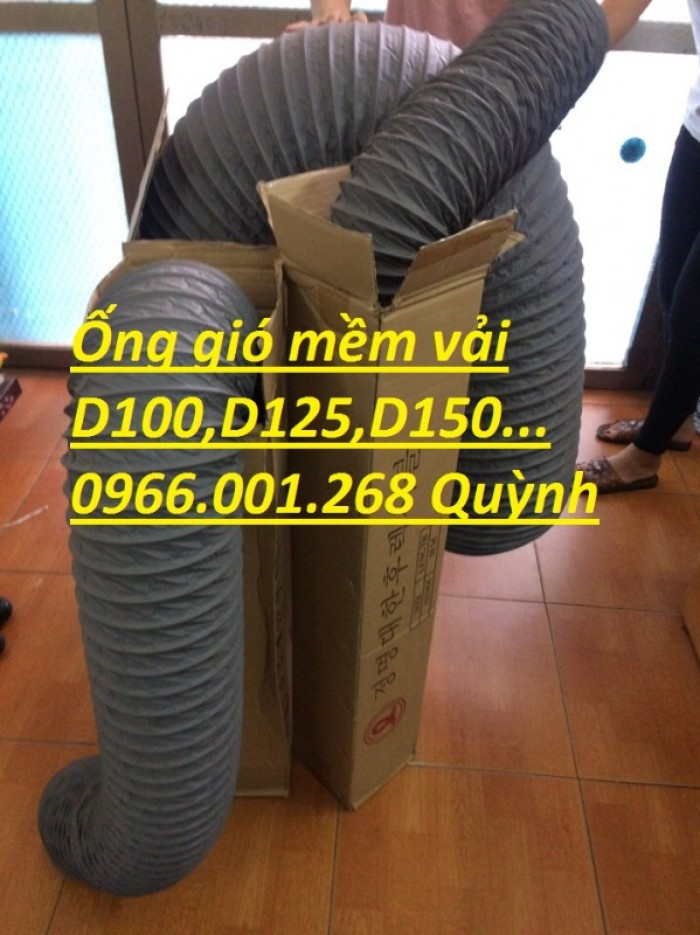 Ống gió mềm vải Tarpaulin phi 100,phi 150,phi 200,phi 250,phi 300,phi 35013