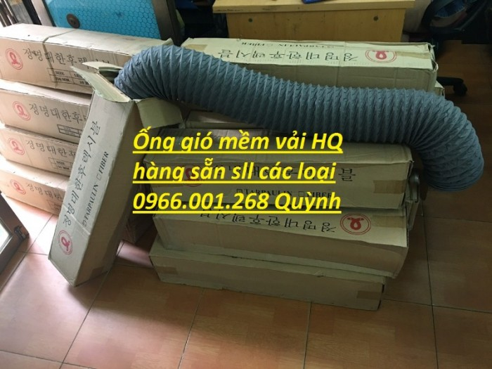 Ống gió mềm vải Tarpaulin phi 100,phi 150,phi 200,phi 250,phi 300,phi 3502
