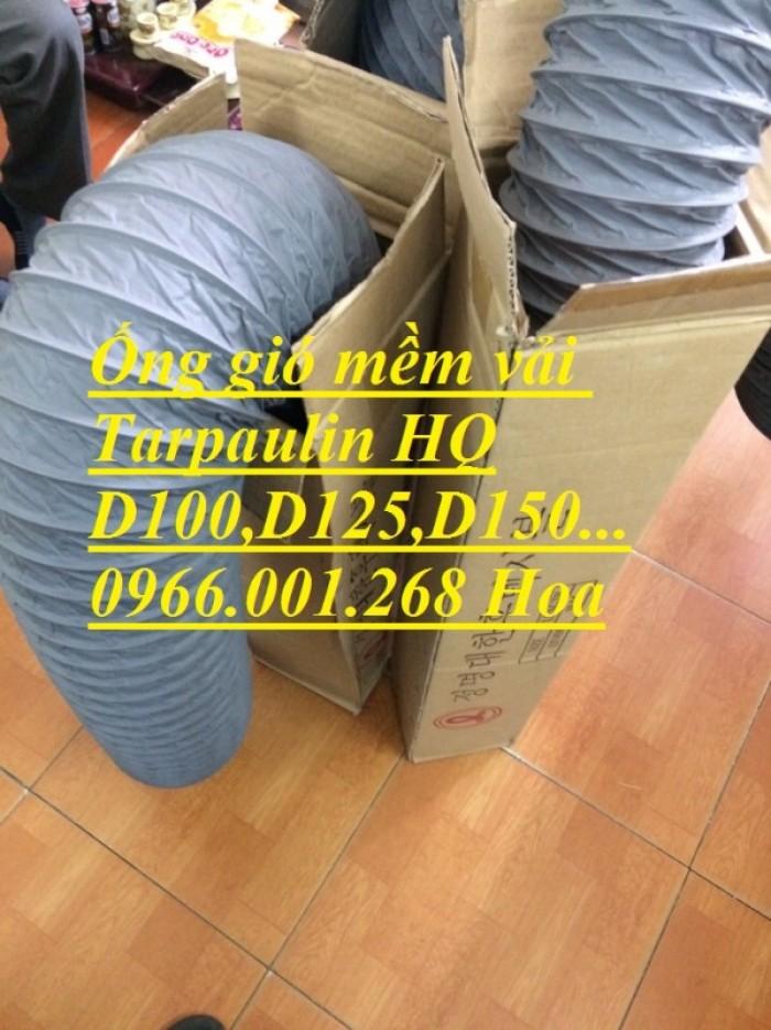 Ống gió mềm vải Tarpaulin phi 100,phi 150,phi 200,phi 250,phi 300,phi 35014