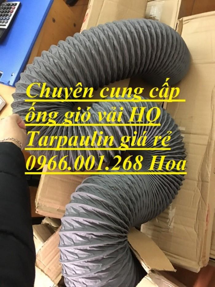 Ống gió mềm vải Tarpaulin phi 100,phi 150,phi 200,phi 250,phi 300,phi 35012