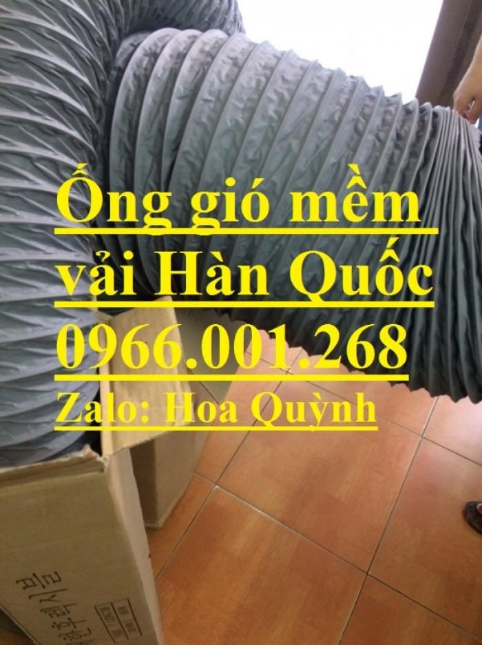 Ống gió mềm vải Tarpaulin phi 100,phi 150,phi 200,phi 250,phi 300,phi 35015