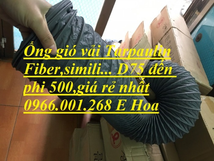 Ống gió mềm vải Tarpaulin phi 100,phi 150,phi 200,phi 250,phi 300,phi 3506