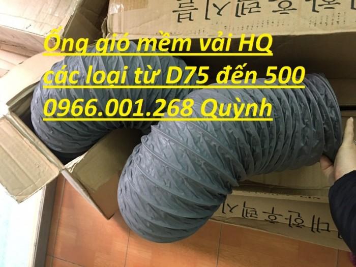 Ống gió mềm vải Tarpaulin phi 100,phi 150,phi 200,phi 250,phi 300,phi 3505